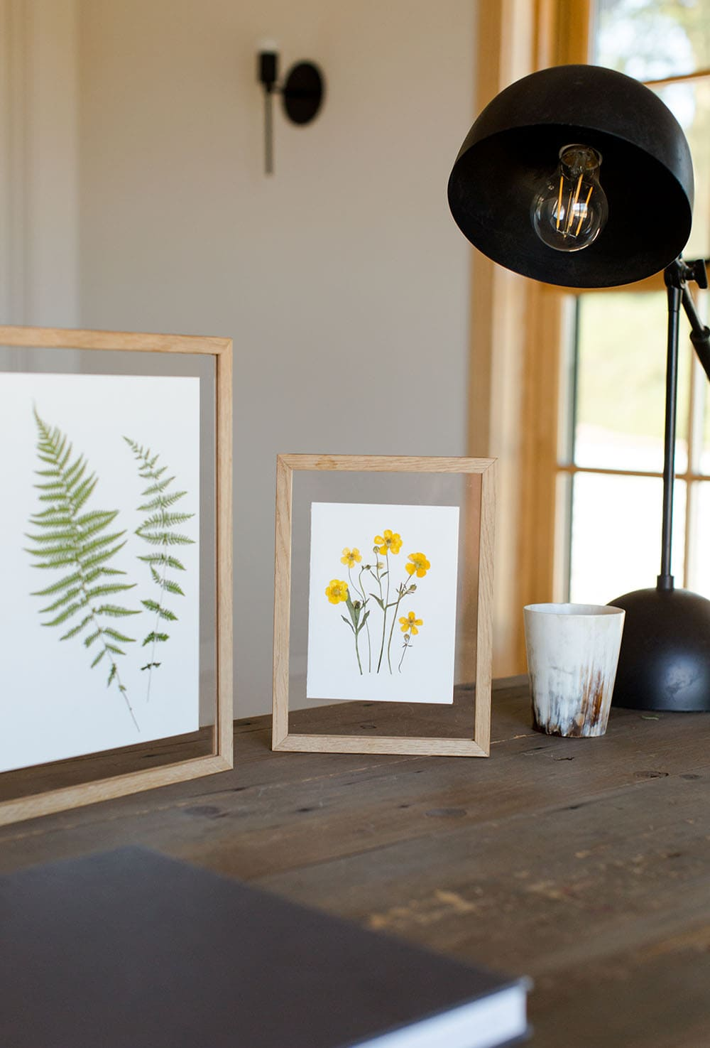 Pressed Florals in Natural Oak MOEBE Float Frame | Karly Murphy | Flower Pressing Workshop