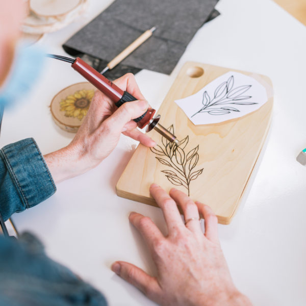 A Wood Burning Workshop with Rachel Strauss | The Crafter's Box