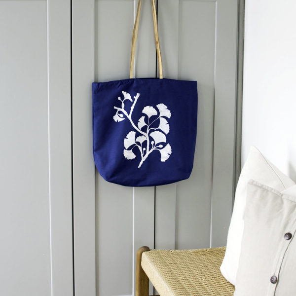 Marine Blue Canvas & Leather Farmer's Market Totes | The Crafter's Box