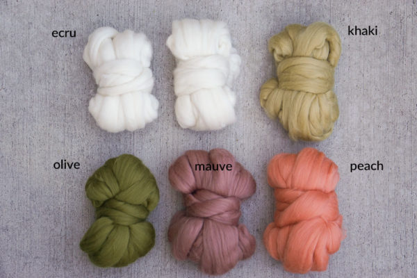 Merino top wool roving in our Charleston colorway