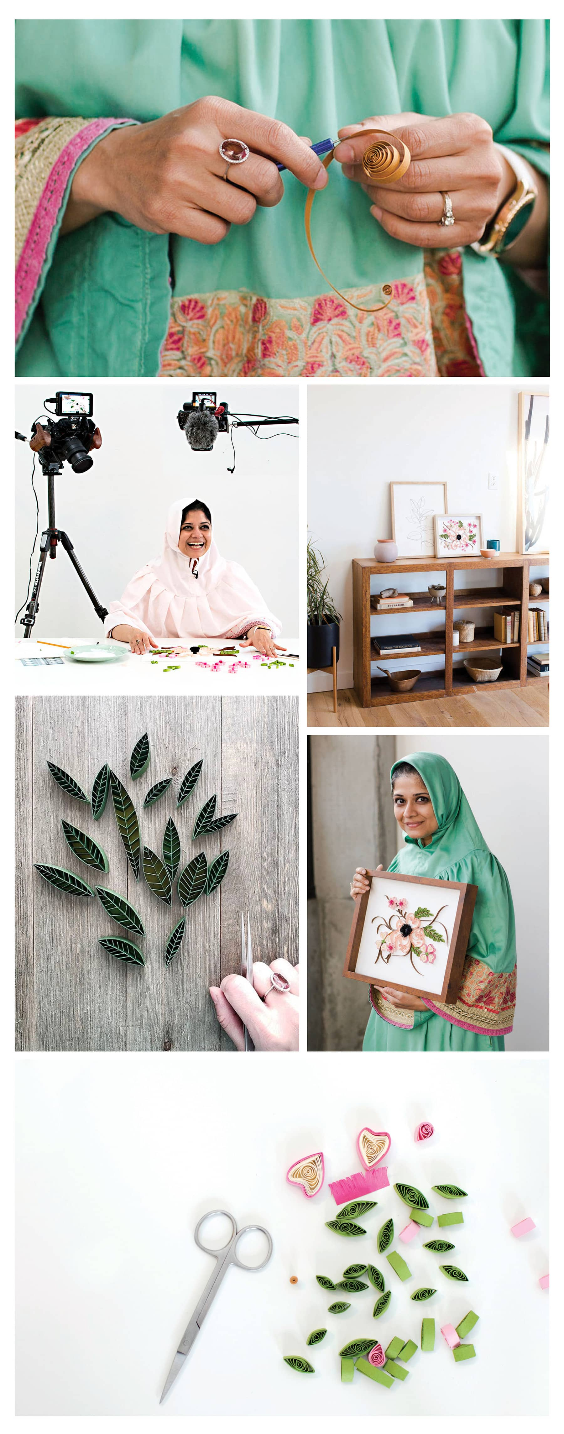 A Modern Paper Quilling Workshop with Zahra Ammar | Collage | The Crafter's Box