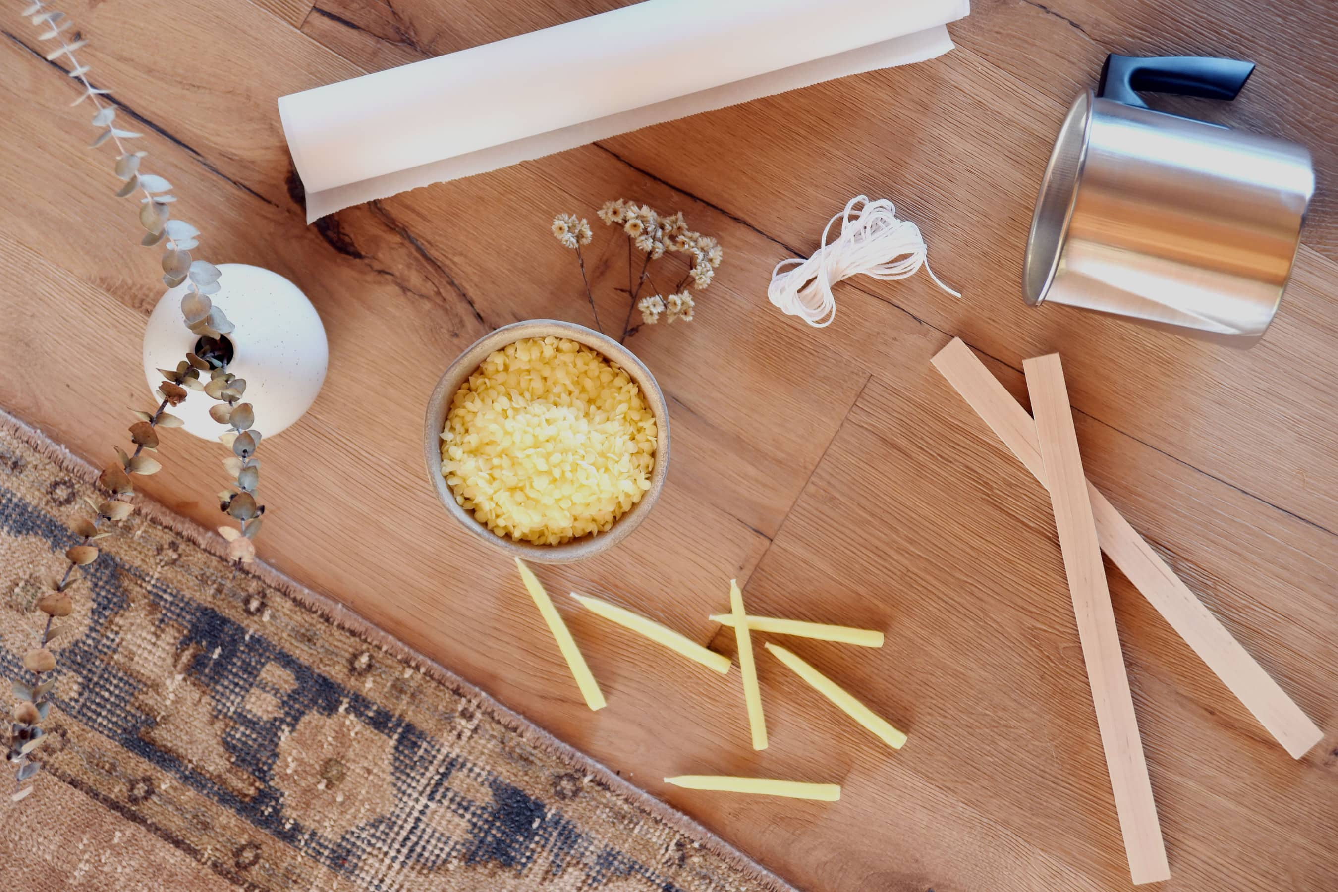The Crafter's Box | Hand Dipped Beeswax Tapered Candles | Liz Wagner