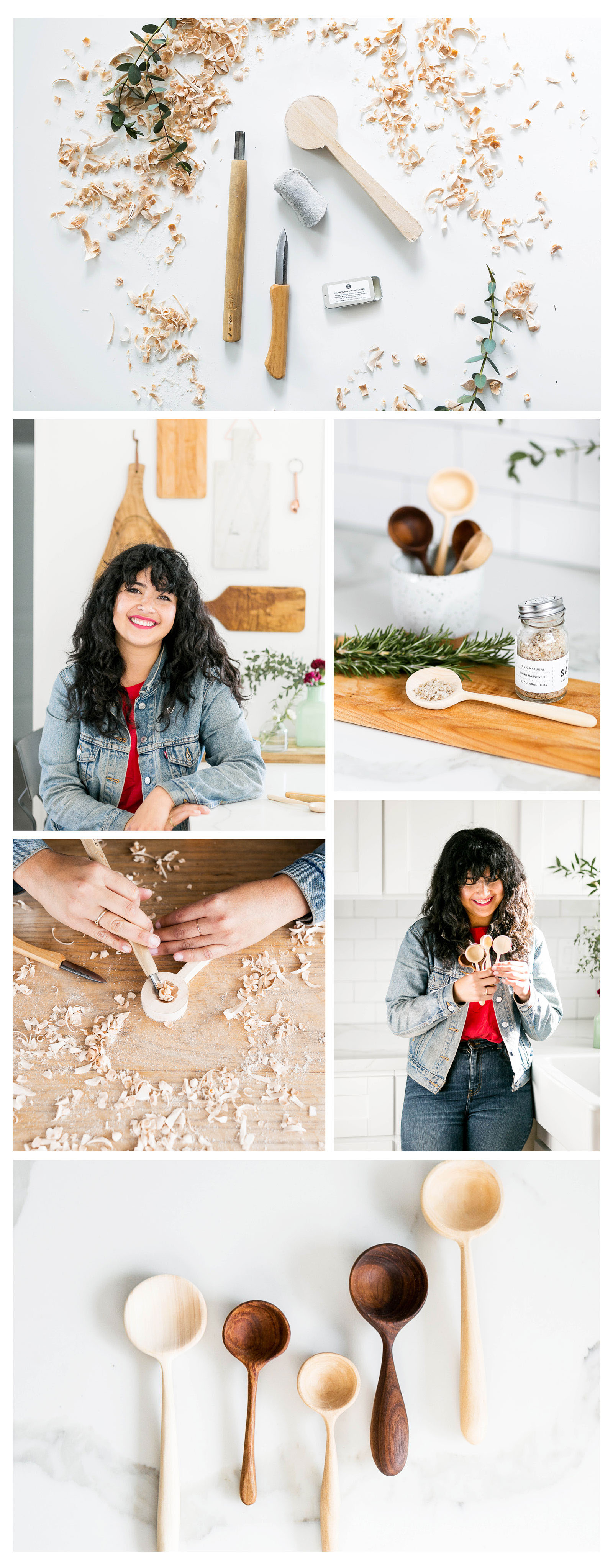 Carved Wooden Spoons | Melanie Abrantes | The Crafter's Box