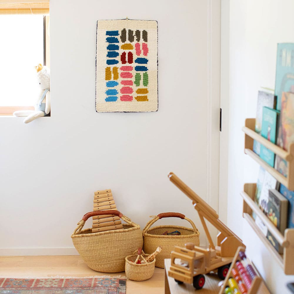 Rainbow Over-Sized Rug & Wall Hanging Materials Kit   Locker Hooking   Lindsey Campbell