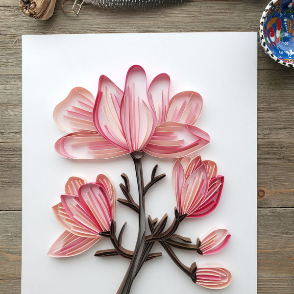 Modern Paper Quilling | Magnolia Bouquet Add-On | Zahra Ammar | The Crafter's Box