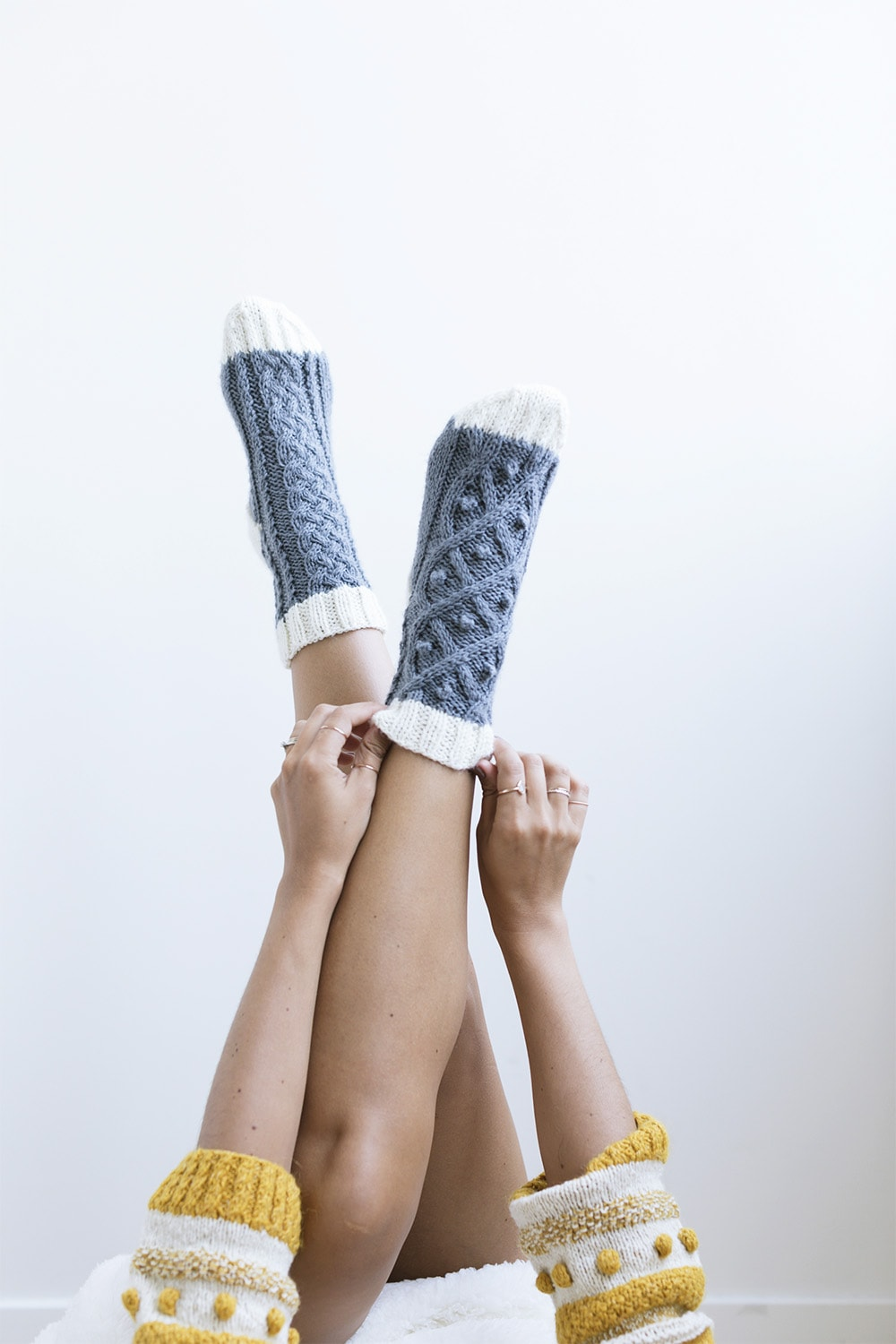 Cozy Knit Cabled Socks | Ksenia Naidyon | Crafter's Box