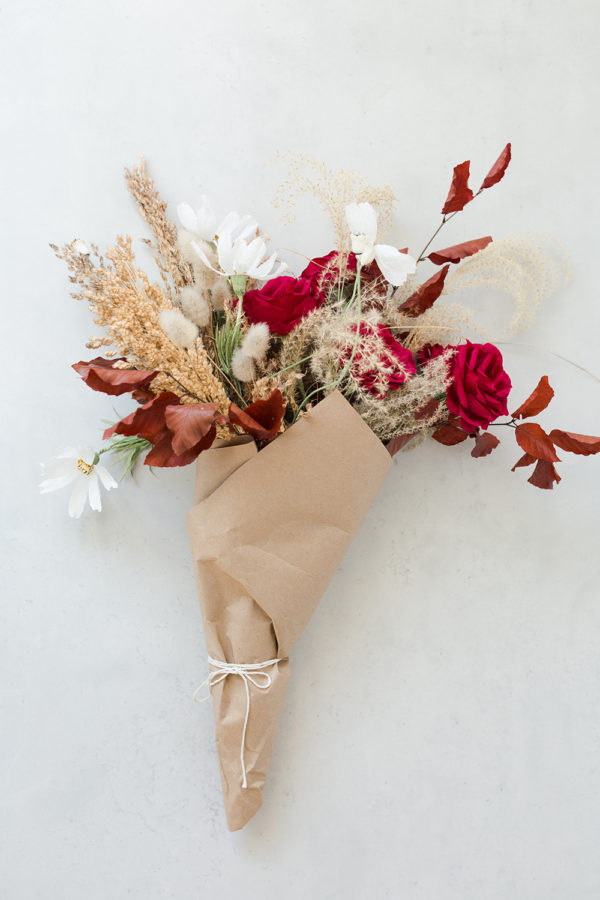 Everlasting Crepe Paper Florals & Palms | Dried Bouquet RECOLOR | Harley Rose, Sandra Gaestel | The Crafter's Box
