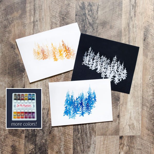 Inked Forest Illustrations | Ink | Peggy Dean | Crafter's Box