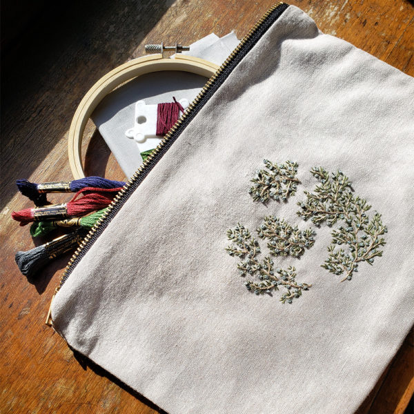 Woodland Botanical Embroidery | Pouch Add-on | Katie Martin | Crafter's Box