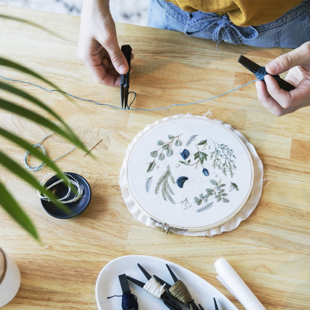 Woodland Botanical Embroidery | Katie Martin | Crafter's Box