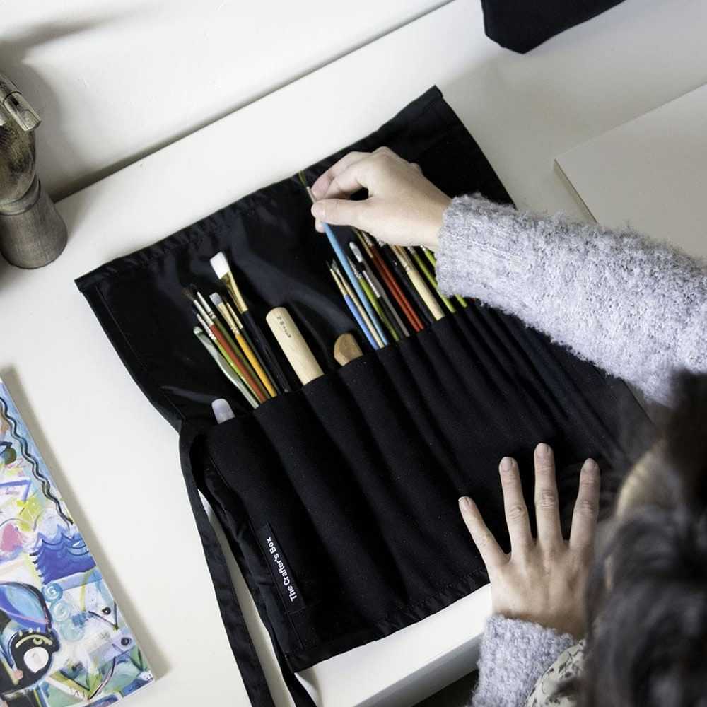 A Canvas & Leather Tool Roll   For crafting essentials, a collaboration with To The Market