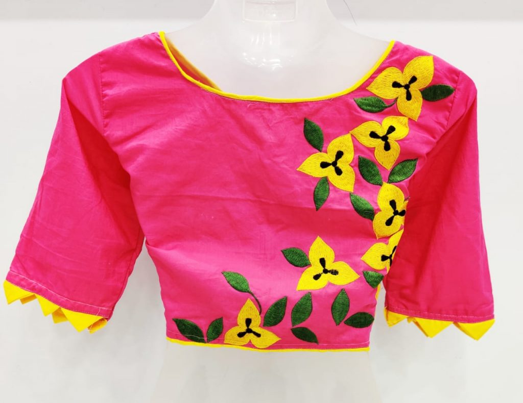 embroidery design for blouse