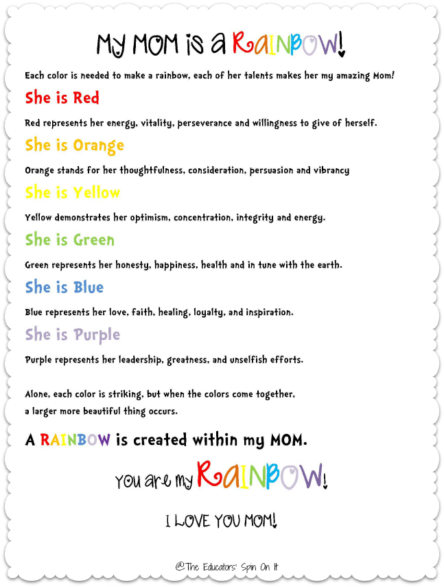 Mothers Day Poems For Preschool 1