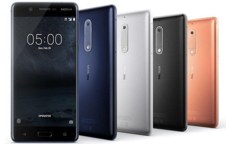 Nokia 5 in Various colors