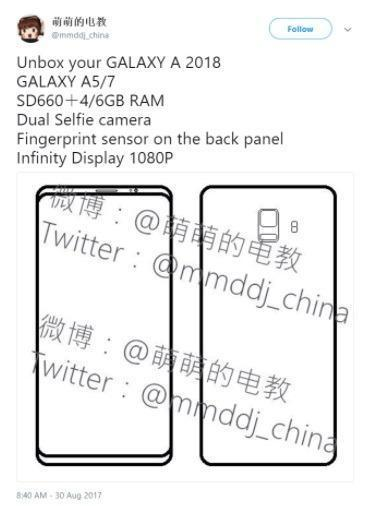 Galaxy A5 2018 and Galaxy A7 2018 specs and design layout