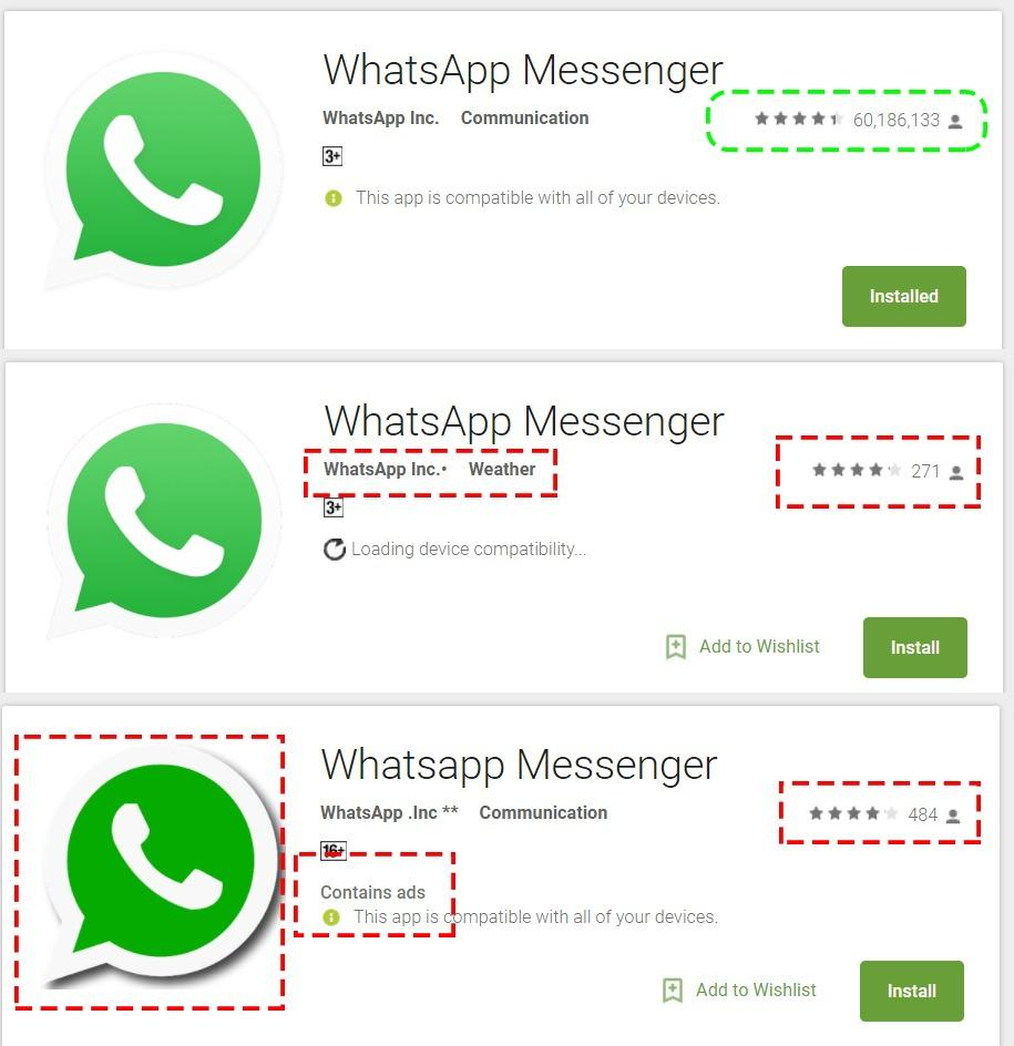 Multiple Whatsapp on Play Store