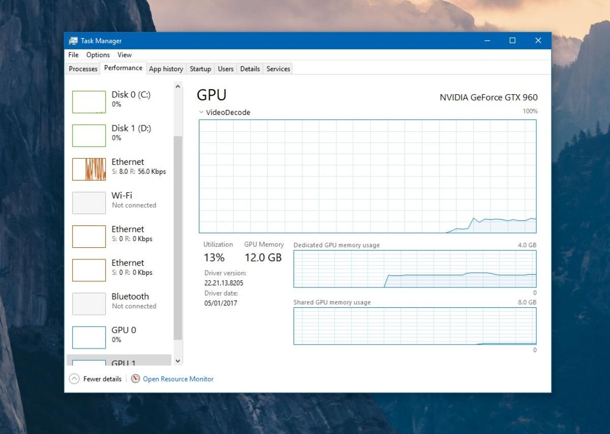 Windows 10 latest update task manager