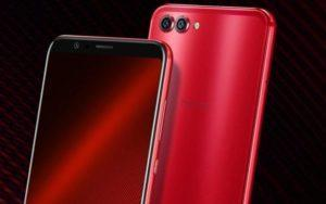 Honor V10 in red color