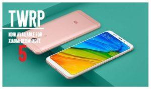 Redmi note 5 TWRP