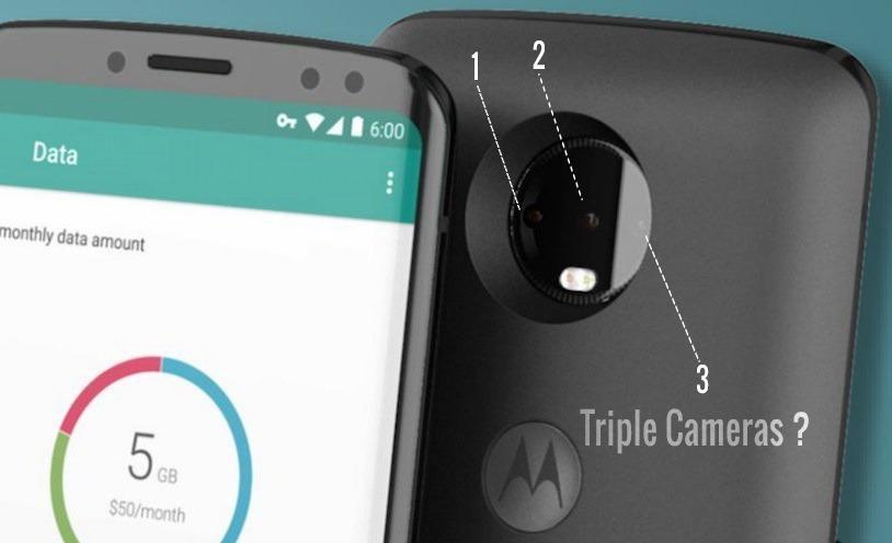 Upcoming Moto Phone with triple cameras