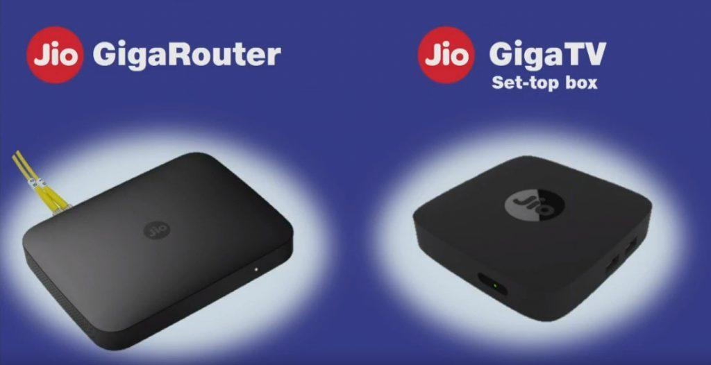 JIo GigaRouter and Giga TV