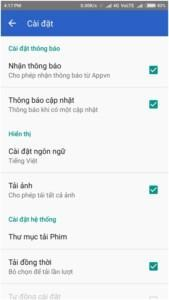 tap on <Language> (Hien thi) in Settings and choose English as your preferred language.