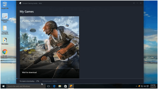 Now Tencent Gaming Buddy Emulator engine will be downloaded