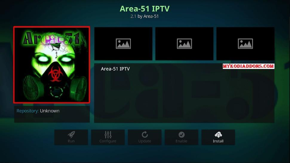 Area 51 IPTV in Amazon Firestick and FireTV