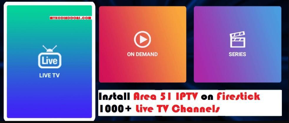 Area 51 IPTV in ChromeCast