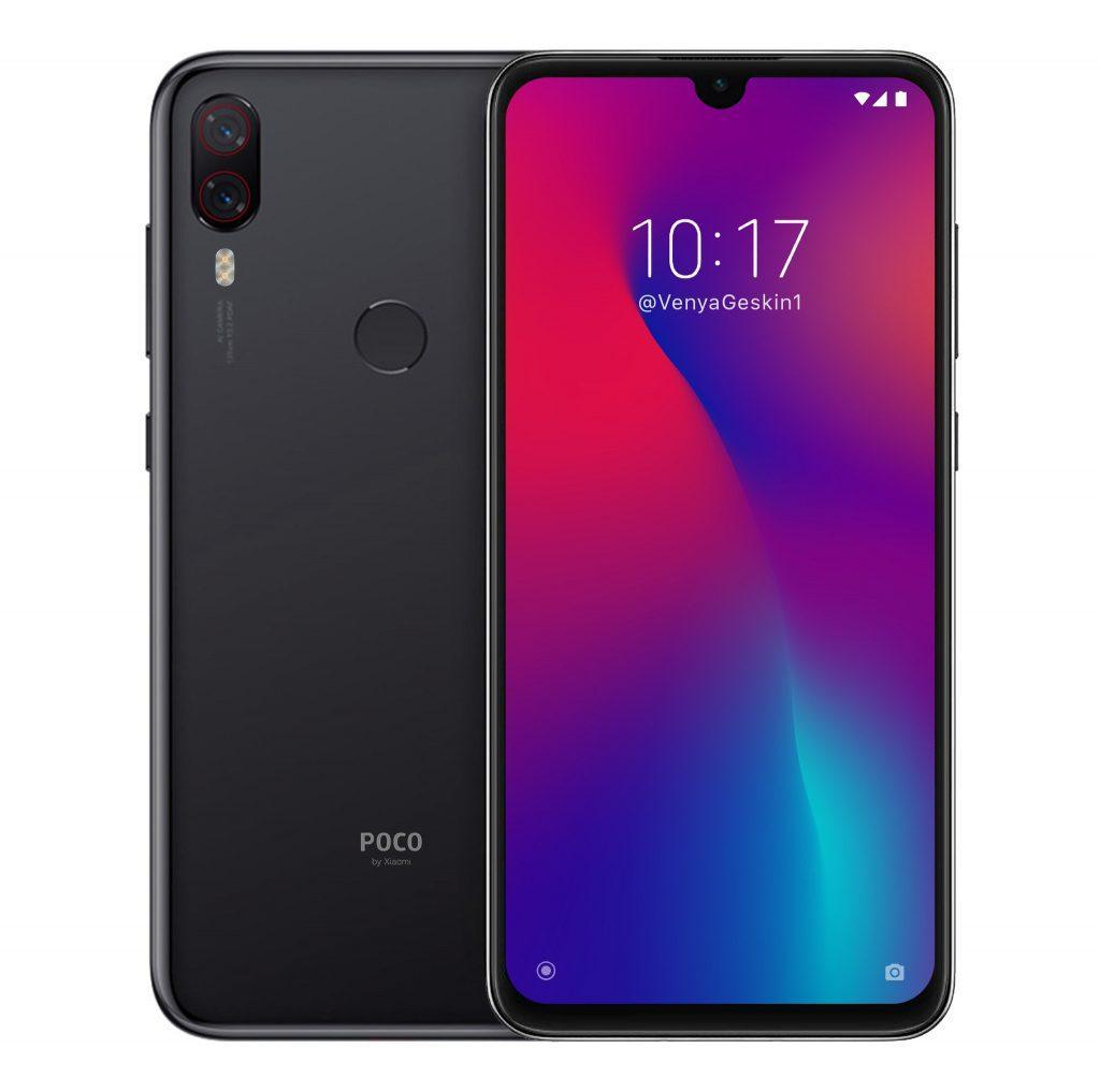 Poco F2 Front and Back render by Ben Geskin