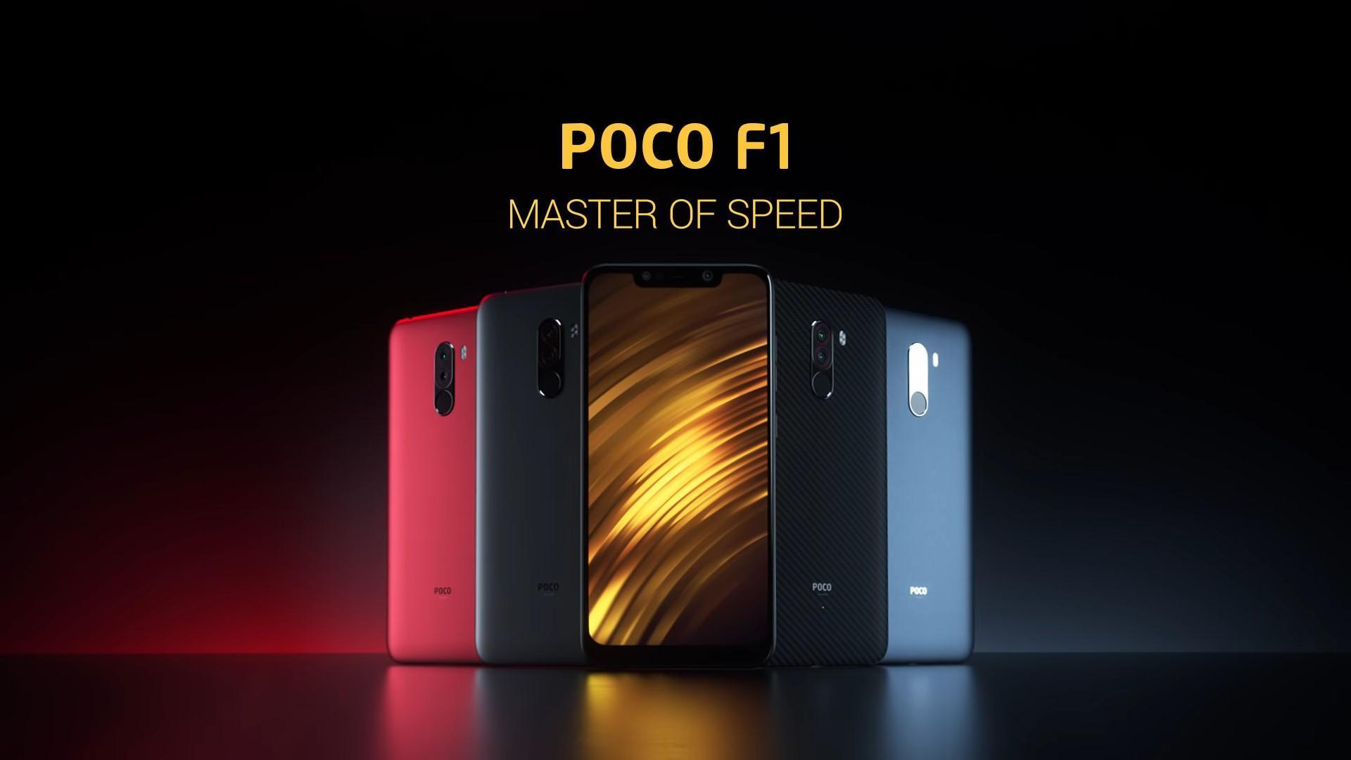 Poco F1 in all color variants
