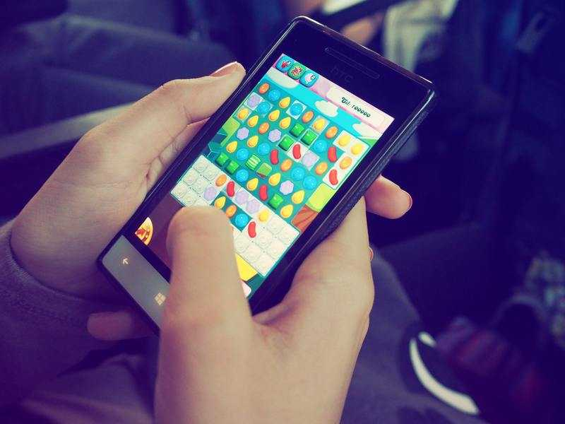 Candy Crush on Android Smartphone