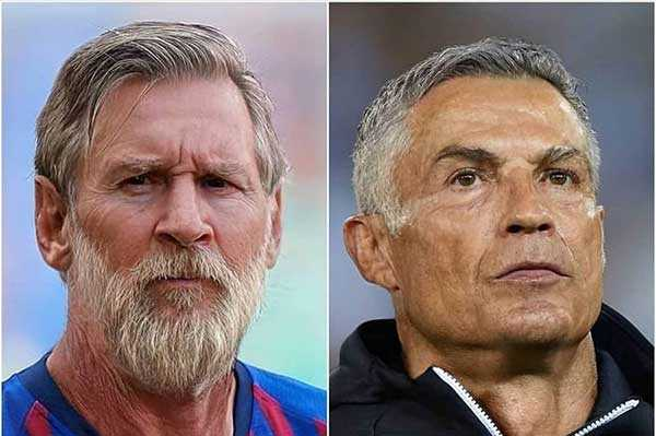 FaceApp live demo of Lionel Messi and Ronaldo aging