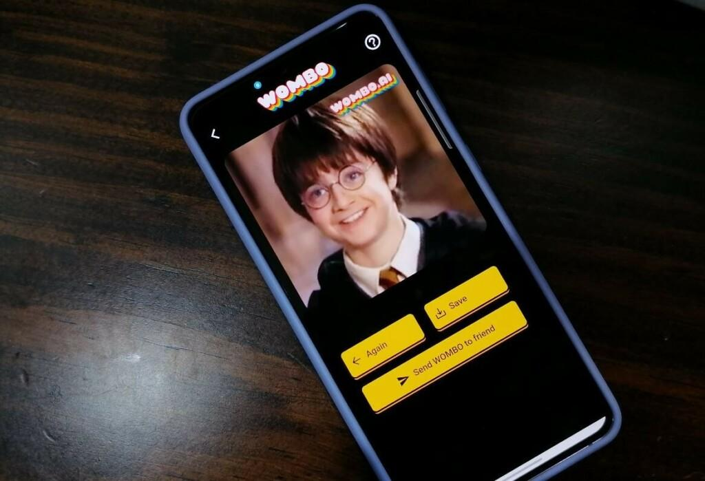 Moving photo of Harry Potter with Wombo AI MOD APK