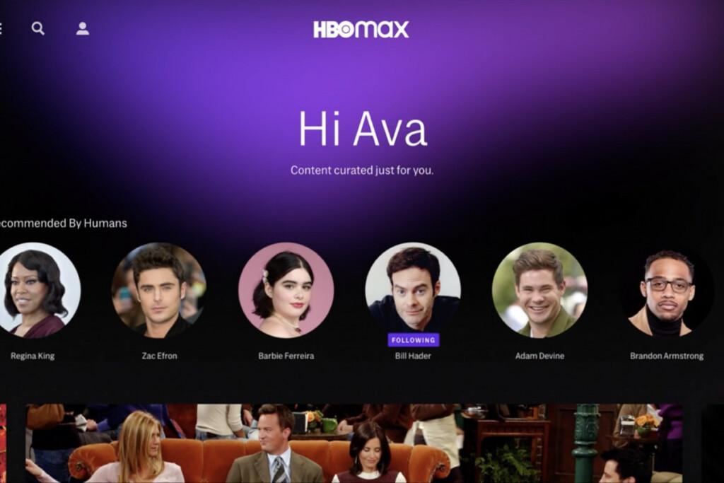 HBO Max Personalized section
