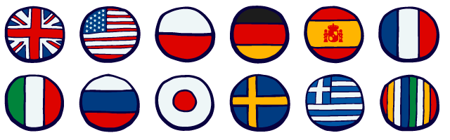 Countries with their flags as Icon