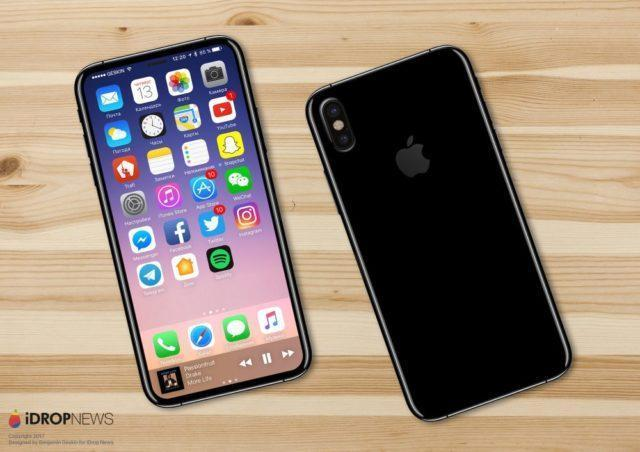 iPhone 8 showing its OLED panel