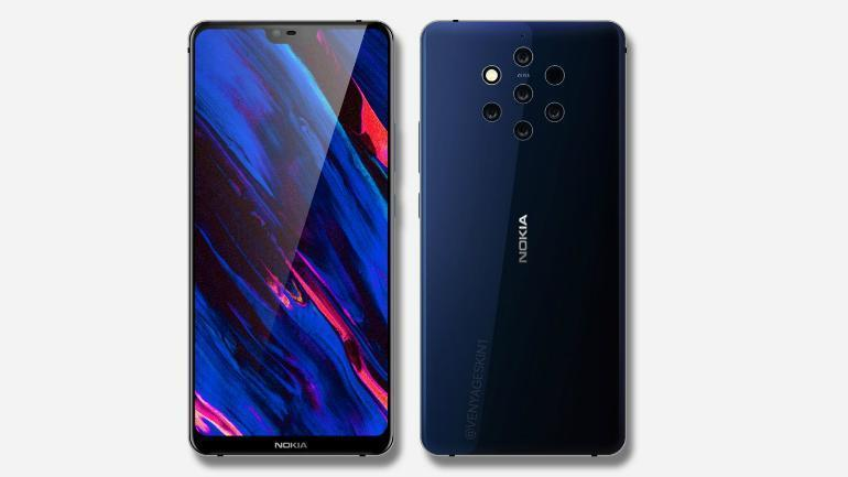 Nokia 9 front and back with camera set up