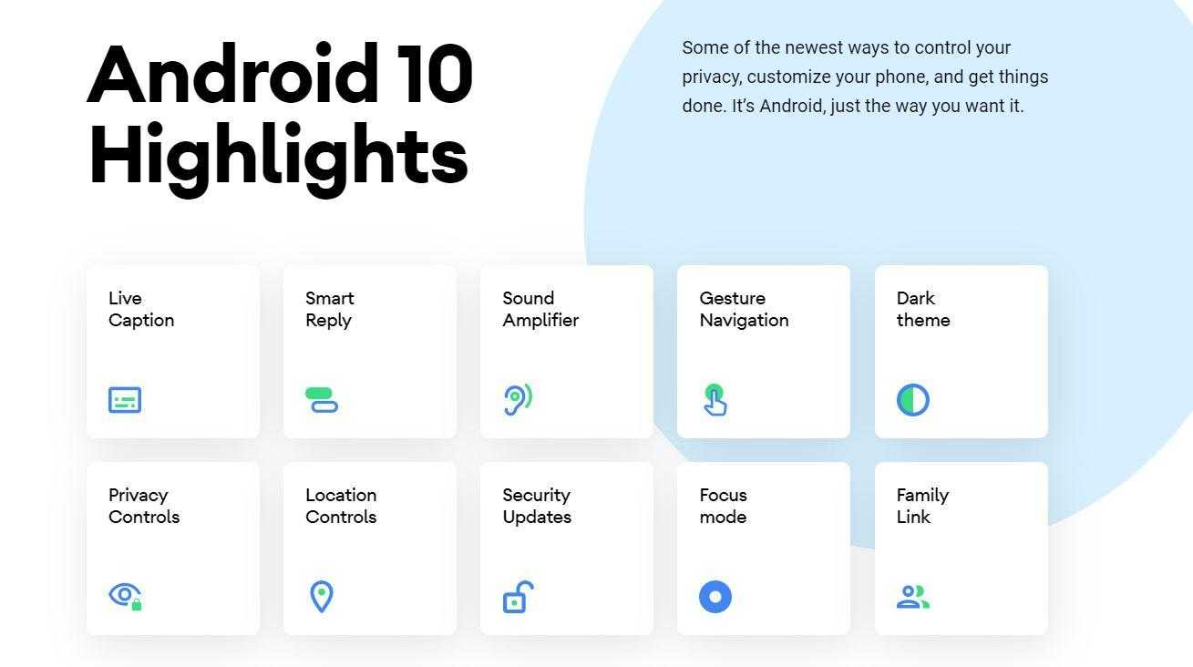 Android 10 Highlights