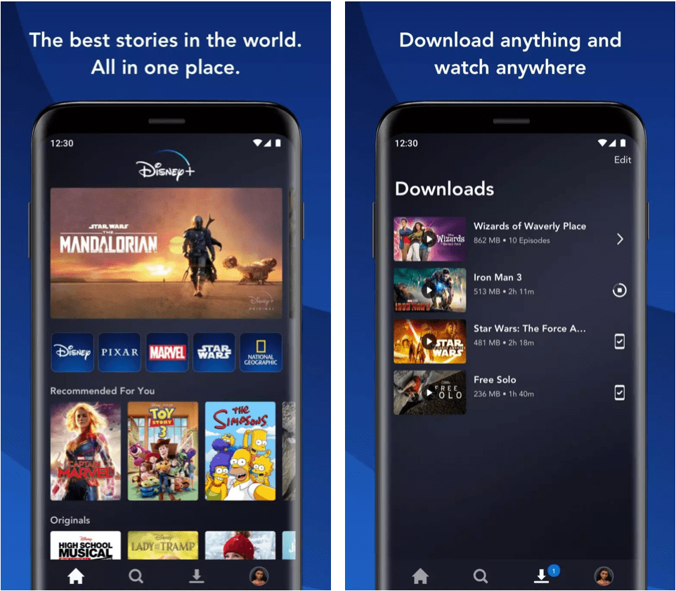 Disney Plus Android APK features
