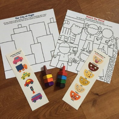 colour sheet and stickers