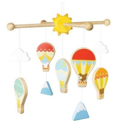 Hot air balloons mobile decoration