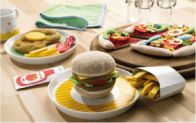 burger and chips toys