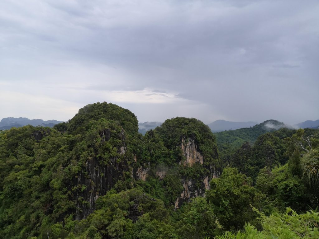 Krabi Tiger Cave Temple Mountain view from top