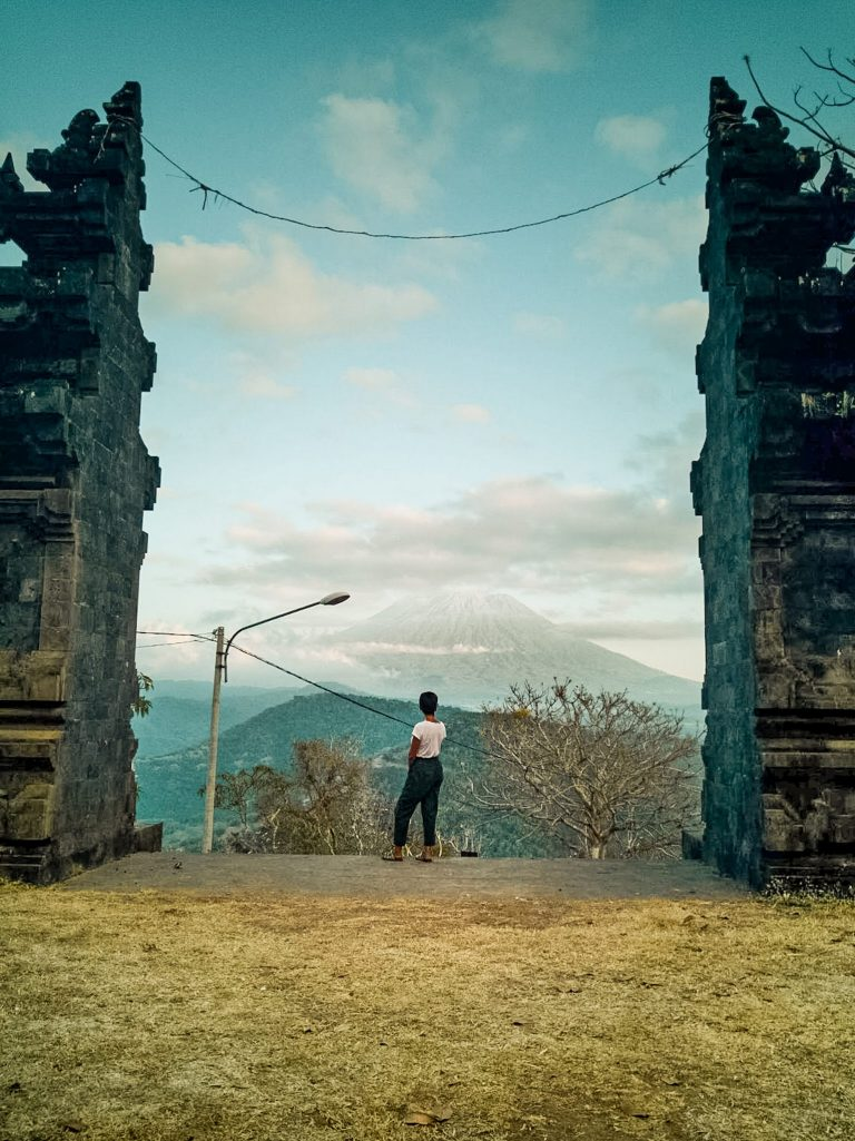 Amed & East Bali Bali Gate with view at Gumang Hill