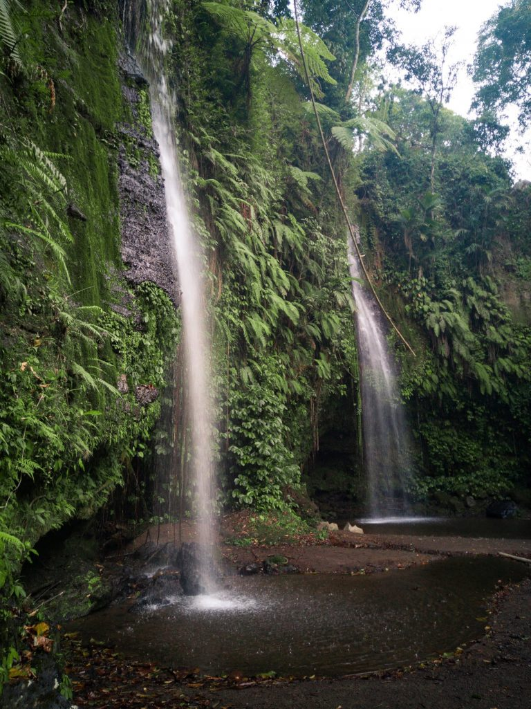 The two waterfalls at Benang Stokel dropping off in a small pool