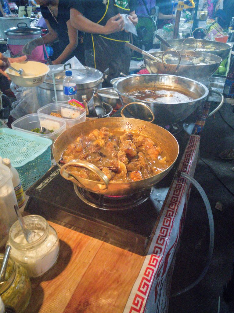 different Thai dishes at Nan Food Market