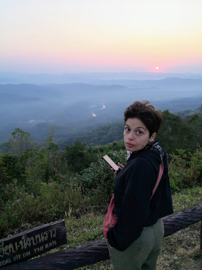 Watching the sun set at Si Nan National Park over breathtaking mountainous landscape