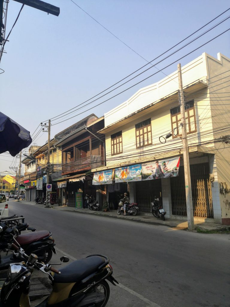Lampang city centre with its teek houses