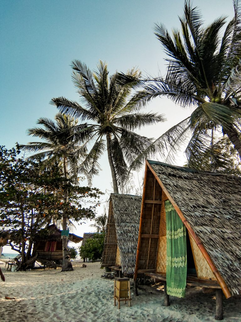 Our bungalows right on the beach for the night during the expedition